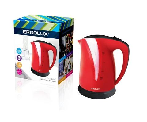 Электрический Чайник Ergolux ELX-KP03-C04 Красный/Черный