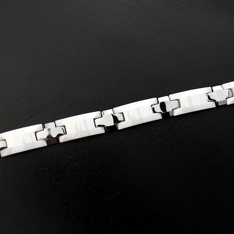Мужской браслет из вольфрама и керамики SPIKES STM-129