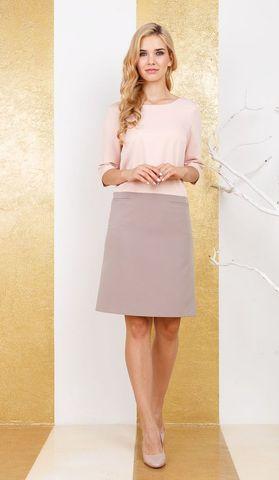 Фото светло-розовое полуприлегающее платье-футляр с карманами на молнии - Платье З254а-147 (1)