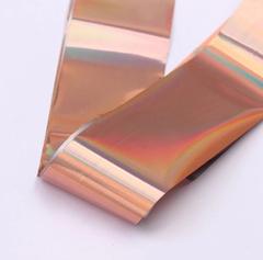 Фольга для дизайна розовая голография