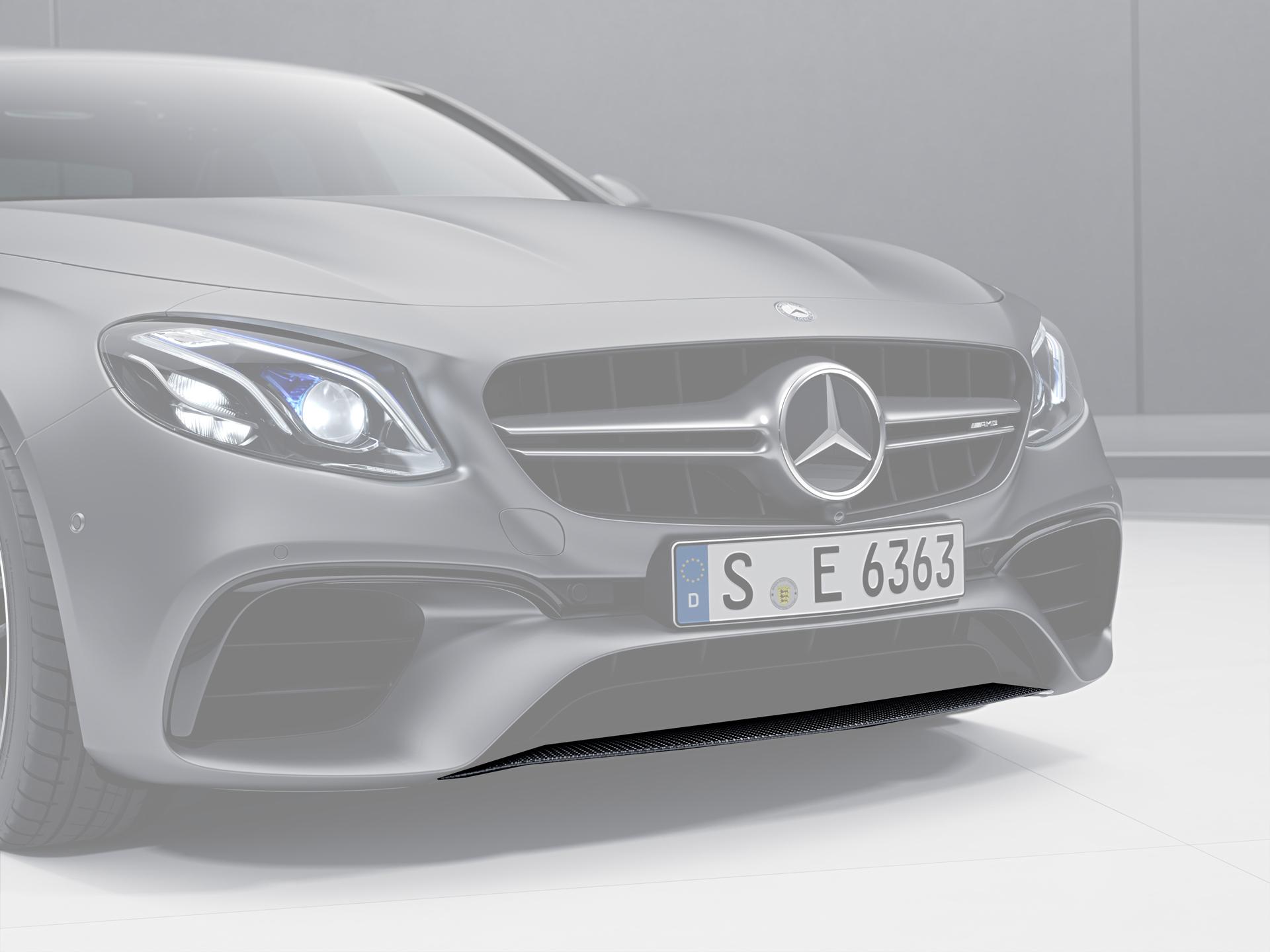 Карбоновый спойлер переднего бампера 63 AMG Style для Mercedes E-class W213