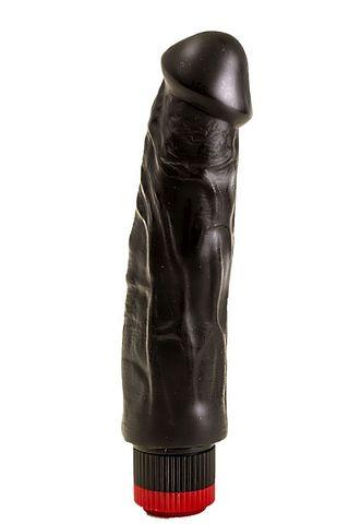 Вибратор-реалистик с крупными венками - 18,5 см.