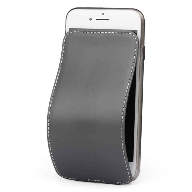 Чехол для iPhone 7 из натуральной кожи теленка, серого цвета