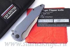 Нож CKF/GAVKO Tiger Flipper (M390, титан)