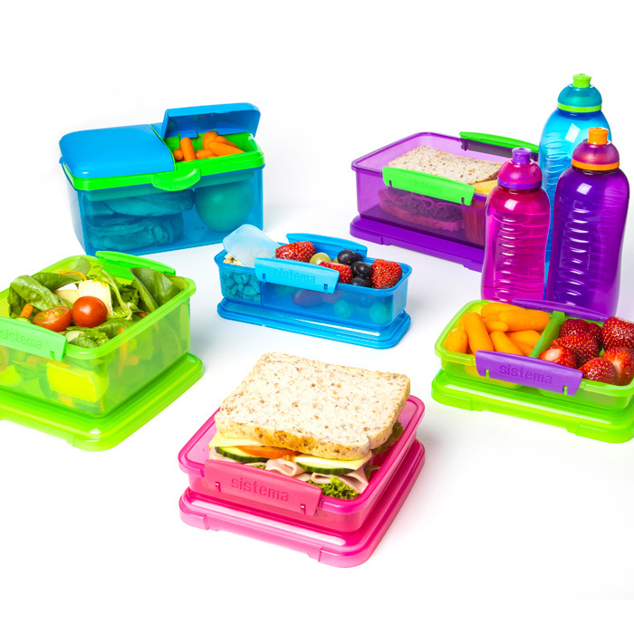 """Набор Sistema """"Lunch"""": ланч-бокс с баночкой и бутылка, цвет Фиолетовый"""