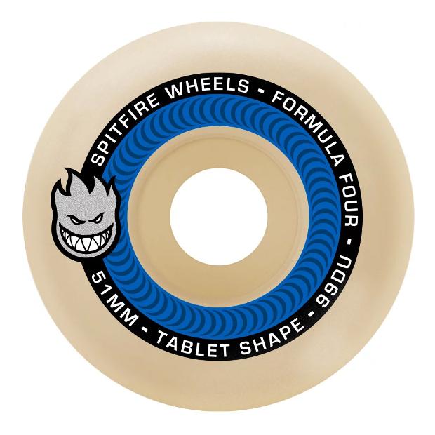 Колёса для скейтборда SPITFIRE F4 Tablets (Natural) 99A