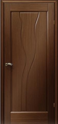 Дверь Мадрид ПГ (тёмный орех, глухая шпонированная), фабрика LiGa