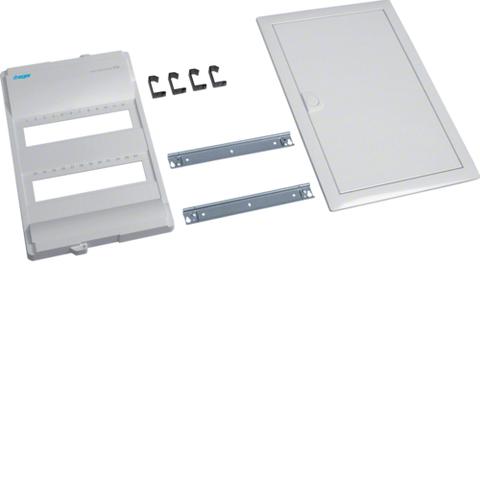 Съемный пакет,Volta,комплект без основания и QC, для наборных клемм на DIN рейку, 2-рядного, RAL9010