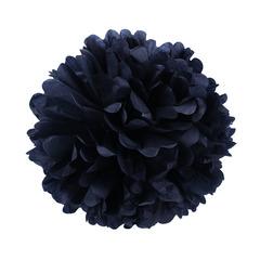 Помпон из бумаги 30 см черный