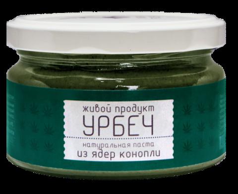 Живой продукт урбеч из очищенных ядер конопли, 225гр