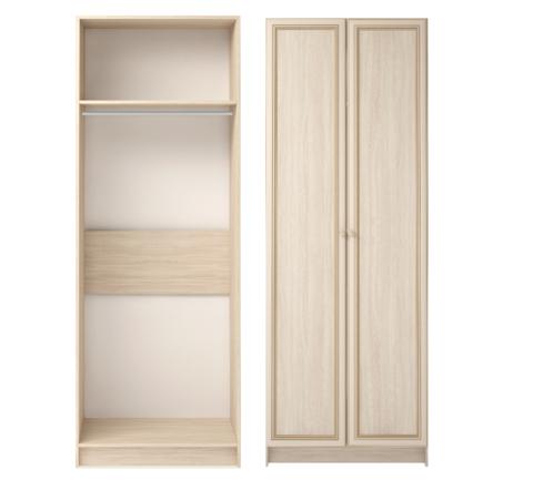 Шкаф для одежды двухдверный Брайтон 01 Ижмебель ясень асахи