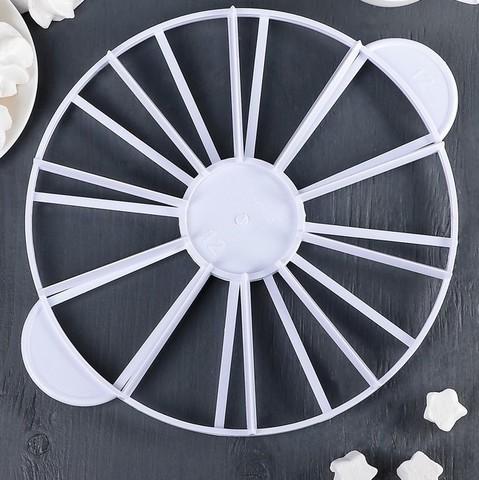 Делитель для торта пластиковый 10/12 частей 26,5 см,