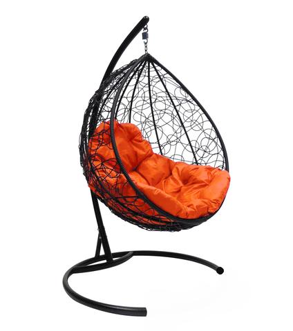 Кресло подвесное Lagos black/orange
