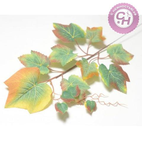 Листья винограда искусственные на ветке, 48 см.