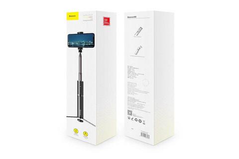 Селфи палка монопод Baseus Fully Folding Selfie Stick SUDYZP-D1S черно-серый