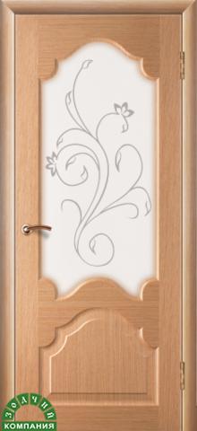 Дверь Верона (дуб, остекленная шпонированная), фабрика Зодчий