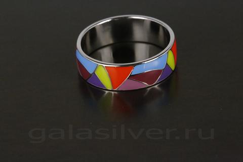 Кольцо с эмалью из серебра 925