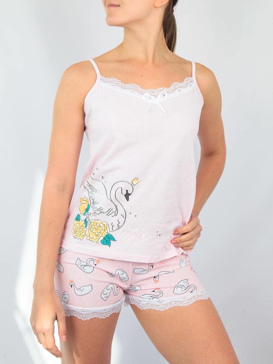 Комплект женский футболка с шортами
