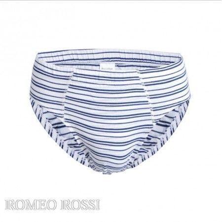Мужские трусы слипы белые в полоску Romeo Rossi RR2004-9