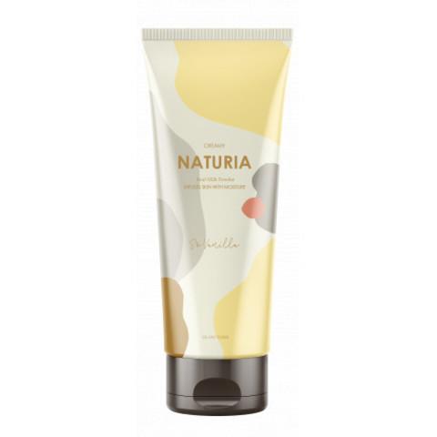 Солевой скраб Evas Naturia для глубокого очищения и выравнивания кожи тела с ароматом ванили 250 гр