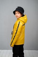 Куртка-анорак для мальчика горчица