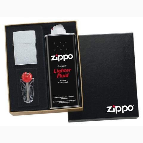 Набор подарочный для широкой зажигалки Zippo, черный, 118х43х145 мм