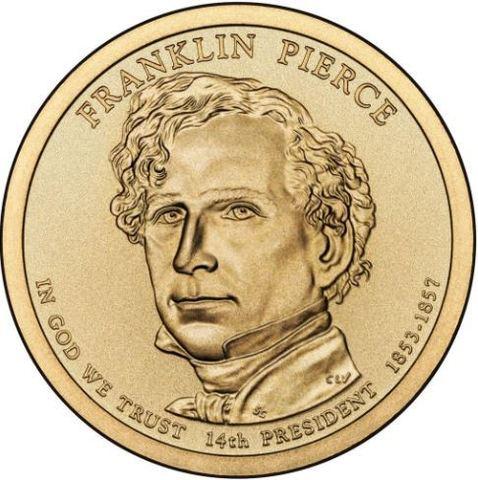 1 доллар 14-й президент США Франклин Пирс 2010 год