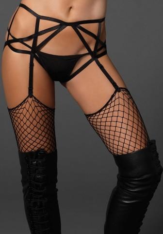 Подвязки-ремешки Cages strap garter panty (Leg Avenue)