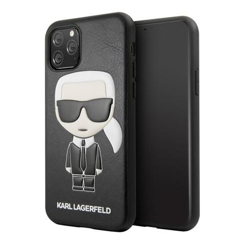 Чехол Karl Lagerfeld Iconik Karl для телефона iPhone 11 Pro Max | TPU/кожа черный