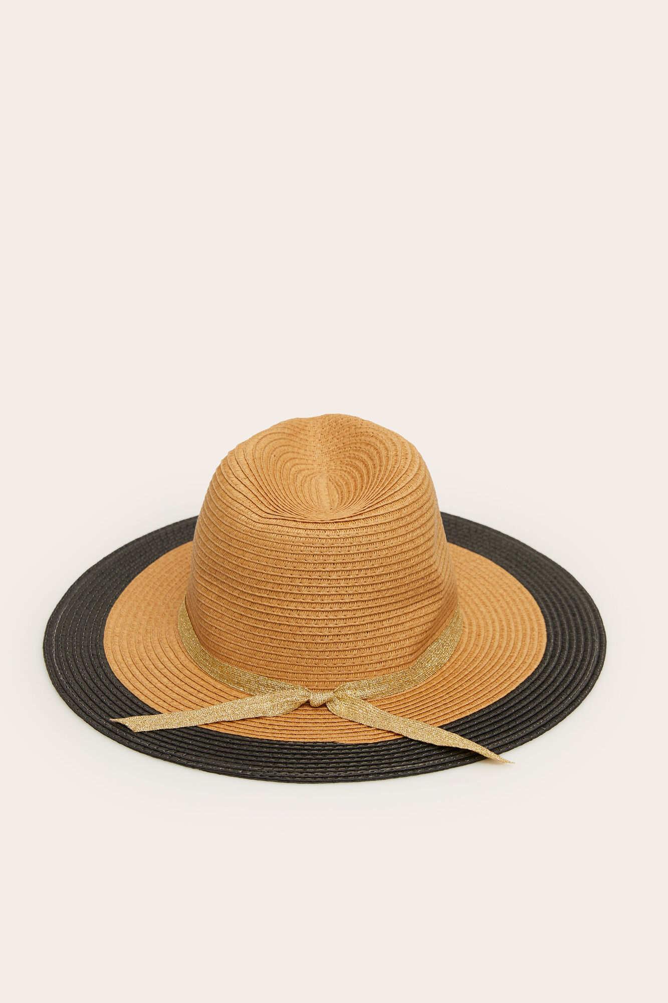 Двоколірний капелюх зі стрічкою