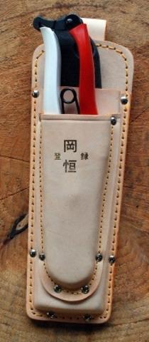 Кожаный чехол, двойной, параллельный, для секаторов Okatsune 101 & 103