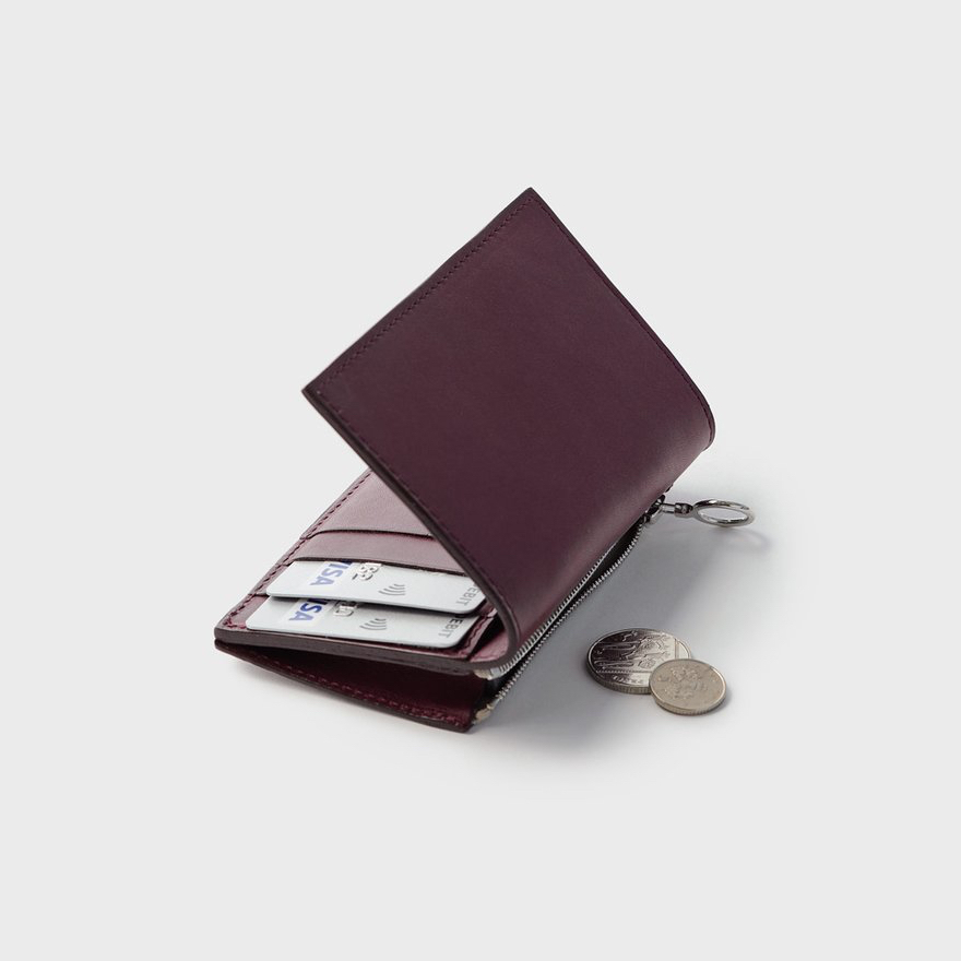 Campbell Cole Кошелёк Simple Slim Wallet Burgundy