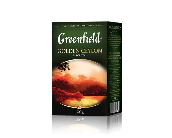 Чай черный листовой Greenfield Golden Ceylon, 100 г