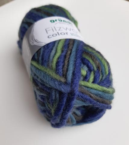 Пряжа шерсть для валяния Filzwolle Color 22