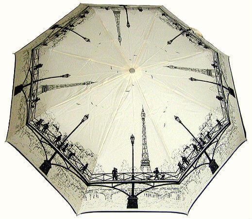 Зонт складной Guy de Jean 3405-10-bg la Tour Eiffel
