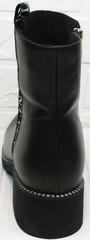 Женские полусапожки из натуральной кожи Jina 6845 Leather Black.
