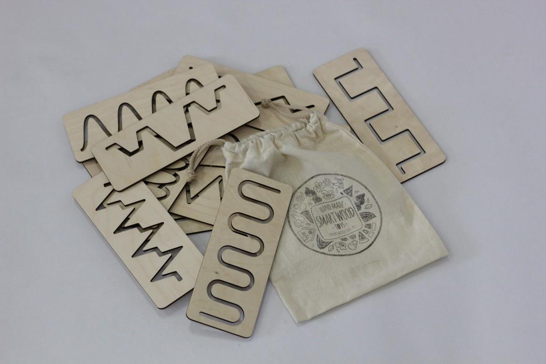Трафареты для первого письма в хлопковом мешочке