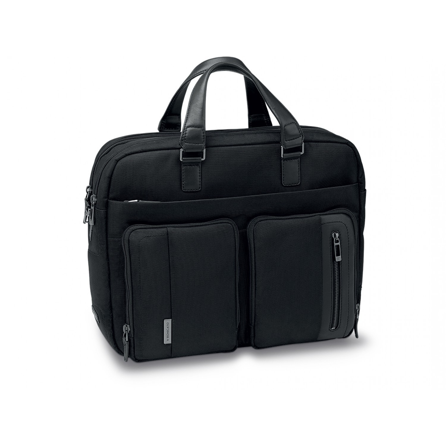 Портфель Roncato Flag 2 HANDLES bag 2 comp. Black для ноутбука 15,6