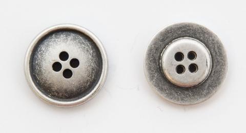 Пуговица металлическая, двусторонняя, цвет чернёное серебро, 23 мм