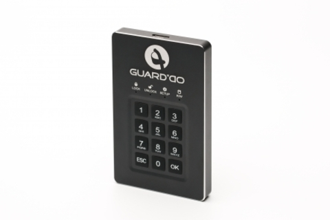 Защищенный внешний диск с пин-кодом Guard'Do 2 Тб.