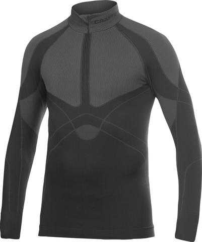 Рубашка Craft Warm Zip мужская темно-серая