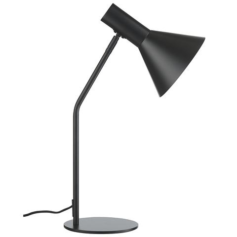 Лампа настольная Lyss, черная матовая