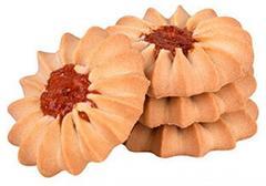 """Печенье """"Яшкино""""  Курабье с вишнёвым джемом  сдобное 4 кг"""