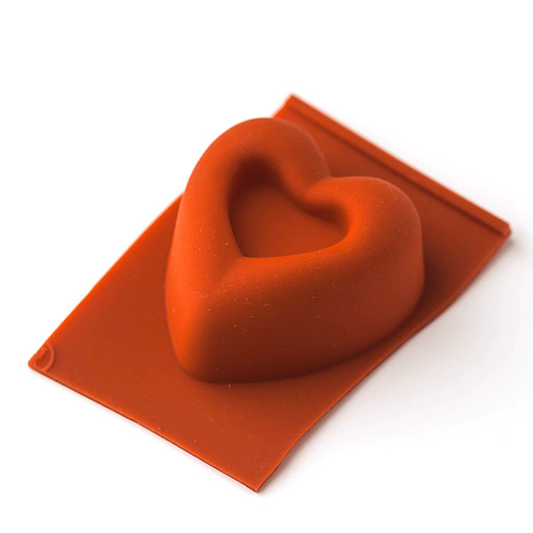 Форма для мыла Кекс сердце 4