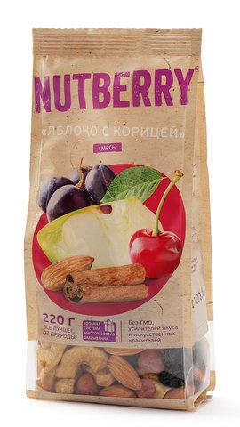 NUTBERRY Смесь яблоко с корицей 220 г