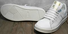 Женские кроссовки кеды Adidas Stan Smith White-R A14w15wg
