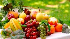 Картина раскраска по номерам 30x40 Натюрморт с фруктами