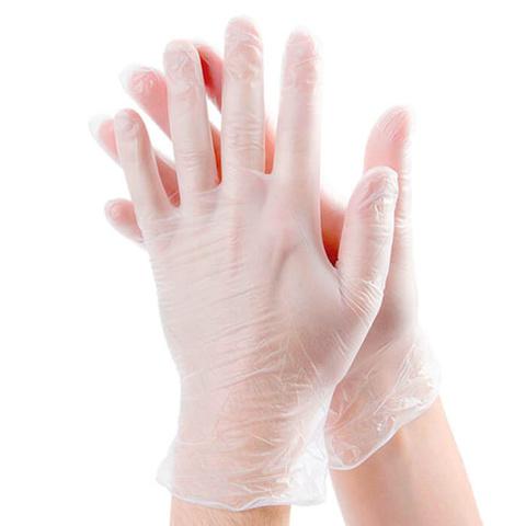 Одноразовые виниловые перчатки UNEX 100шт, размер M, цвет белый