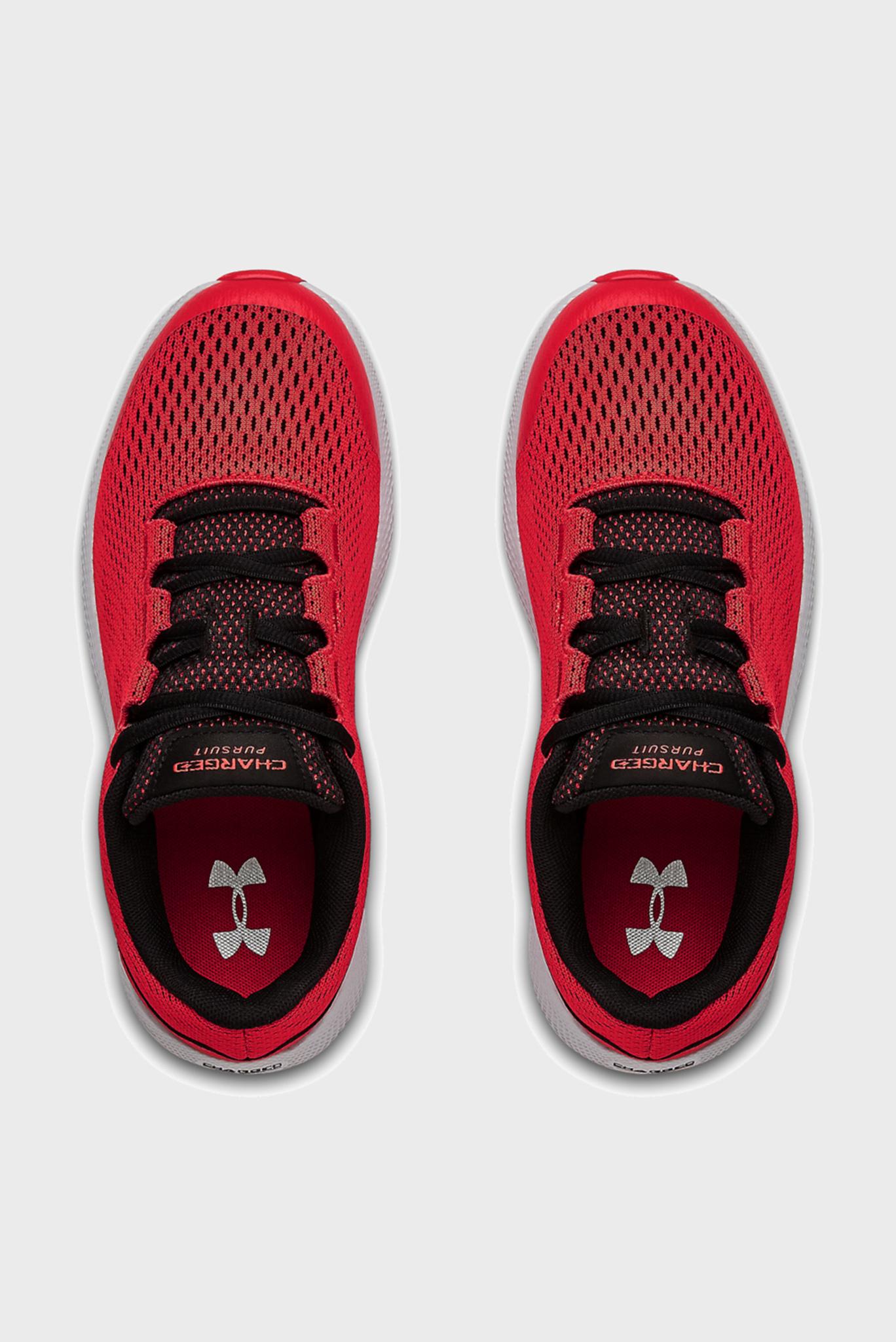 Детские красные кроссовки UA GS Charged Pursuit 2-RED Under Armour