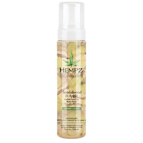 Hempz - Средства для душа: Гель-мусс для душа Сандал и Яблоко (Sandalwood & Apple Herbal Foaming Body Wash), 250мл